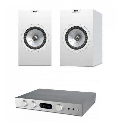 Audiolab 6000A + Kef Q350, szettben  - ezüst/fehér