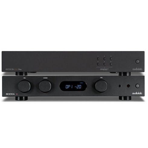 Audiolab 6000 sztereó szett II  (6000A + 6000N Play) - fekete