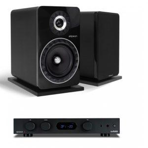 Audiolab 6000A erősítő + Elipson Prestige Facet 8B hangfal, szettben - fekete/fekete