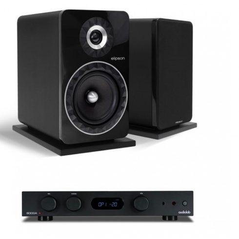 Audiolab 6000A erősítő + Elipson Prestige Facet 8B Anniversary hangfal, szettben - fekete/fekete