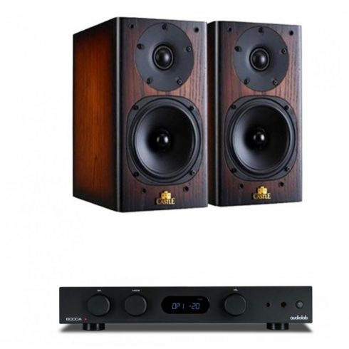 Audiolab 6000A erősítő + Castle Knight 2 hangfal, szettben - fekete/antik tölgy