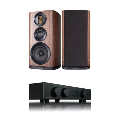 Audiolab 6000A erősítő + Wharfedale EVO 4.2 hangfal, szettben - fekete/dió