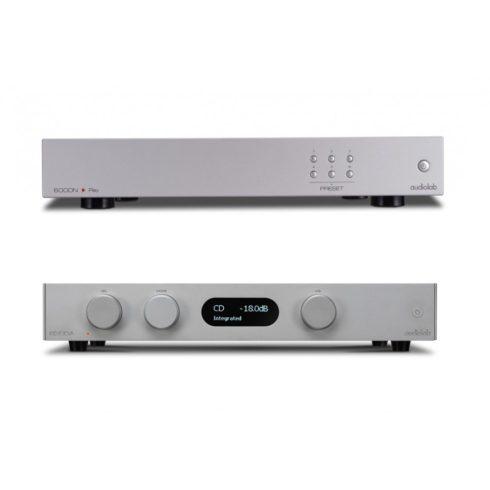 Audiolab 8300A sztereó erősítő + 6000N Play hálózati lejátszó - ezüst, szett