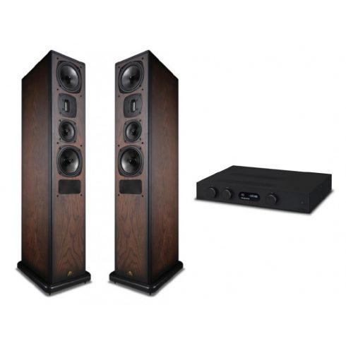 Audiolab 8300A  + Castle Avon 5 - fekete/antik tölgy
