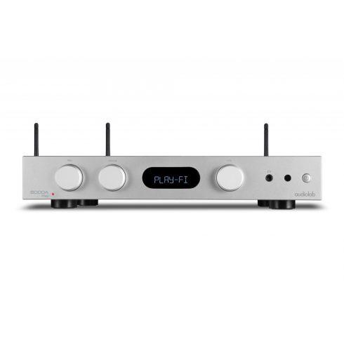 Audiolab 6000A Play erősítő + Kef Q350 hangfal, szettben - ezüst/dió