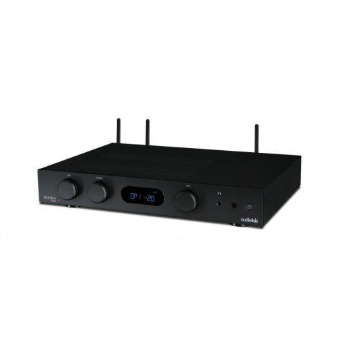 Audiolab 6000A Play erősítő + Kef Q350 hangfal - szettben, fekete/fehér
