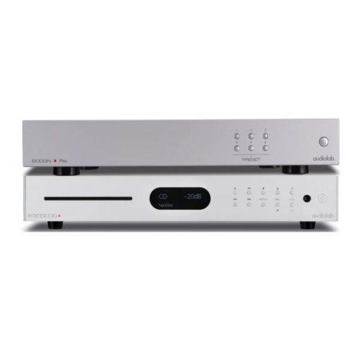 Audiolab 8300 CDQ + 6000N Play - szettben, ezüst/ezüst