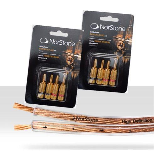 NorStone Classic CL250 hangsugárzó kábel  - 6 méter + 2 szett NorStone aranyozott banándugó