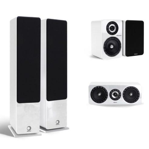 Elipson Prestige Facet 14F 5.0 hangfalszett + Yamaha RX-V6A 7.2 erősítő, szettben - fehér/fekete