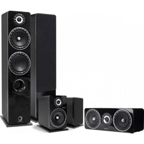 Elipson Prestige Facet 14F 5.0 hangfalszett + Yamaha RX-V6A 7.2 erősítő, szettben - fekete/fekete