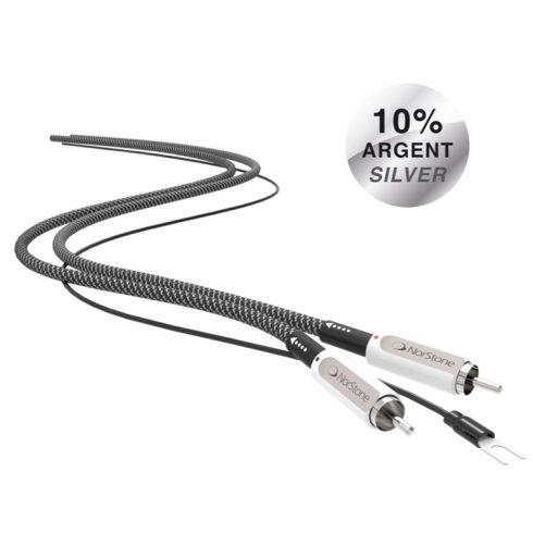 NorStone Jura RCA Grounded ezüstözött audio összekötő kábel - 1,0M