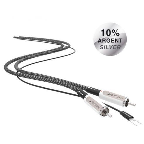 NorStone Jura RCA Grounded ezüstözött audio összekötő kábel - 0,6M