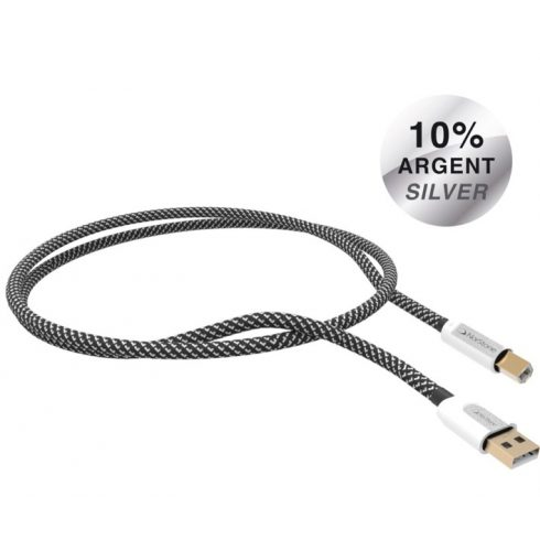 NorStone Jura USB A-B ezüstözött összekötő kábel - 1,5M