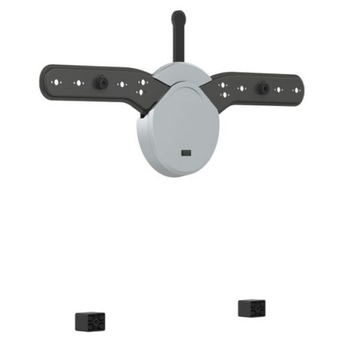 NorStone Skye F3770-GC univerzális fali TV konzol fekete