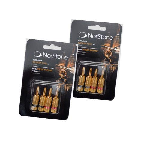 NorStone aranyozott banándugó (szett) x2