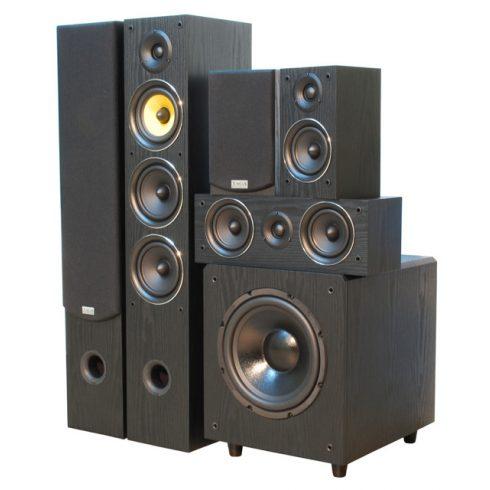 Taga Harmony TAV 506 v.2 5.1 hangfalszett (TSW-90 v.4 mélyládával) - fekete