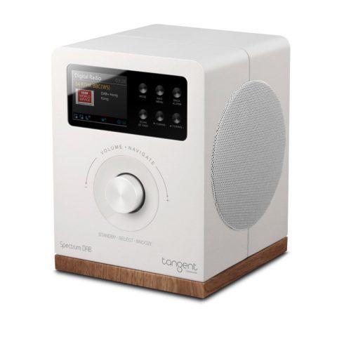 Tangent Spectrum DAB+/FM/BT rádió és Bluetooth hangszóró - fehér