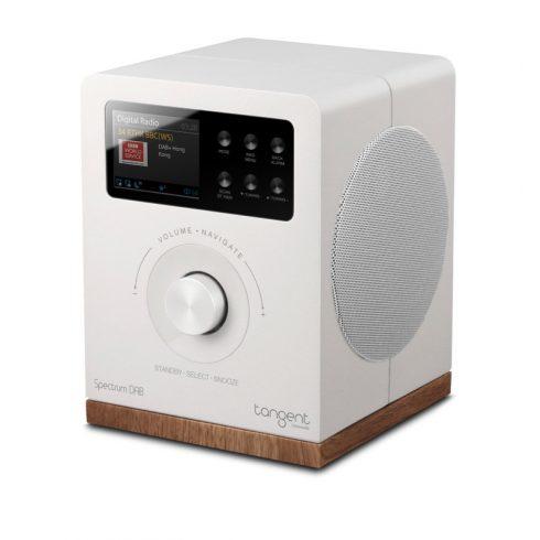 Tangent Spectrum DAB+/FM/BT rádió és Bluetooth hangszóró - fehér - Black Friday Akció!