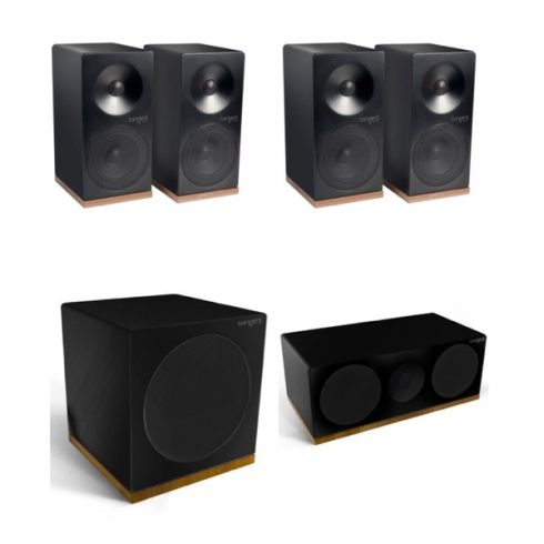 Tangent Spectrum X4 5.1 hangfalszett - szatén fekete
