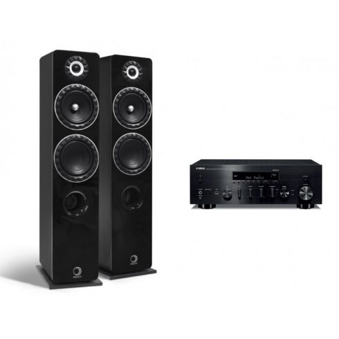 Elipson Prestige Facet 14F + Yamaha R-N803D - fekete/fekete